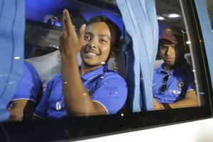 Prithvi Shaw & Co return to Mumbai after ICC U-19...
