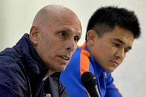 Indian football team coach Stephen Constantine's contract up for...