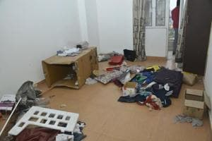 The flat where the boy was kept in Ghaziabad.