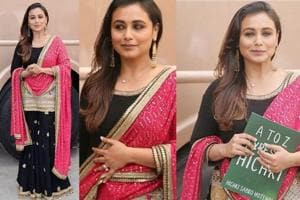 Everything about Rani Mukerji's outfit says Sabyasachi and we're in...