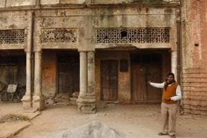 The building from where the quack used to run his clinic on Station Road in Bangarmau, Unnao.