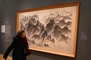 NY's Metropolitan Museum of Art commemorates the Olympics with a...