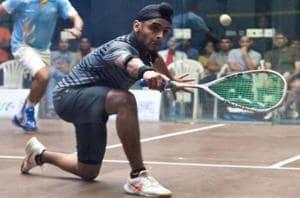 Harinder Pal Sandhu stuns Nathan Lake to enter Indian Squash Open...