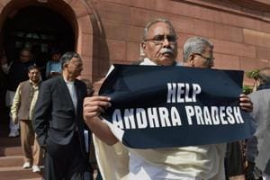 Andhra bandh affects normal life, law minister stages sit-in outside...