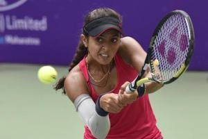 Ankita Raina put up a good show in the Fed Cup World Group play-off game for India by beating Yulia Putintseva but they still lost 1-2 to Kazakhstan.