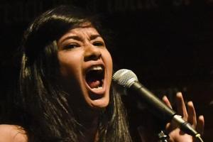 Jeeya Sethi, curator and stand-up comedy performer, at Irish House on Wednesday.