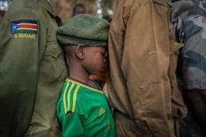 Photos: Over 300 child soldiers lay down guns for books in South Sudan