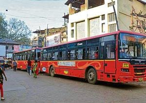 The bus service was stopped due to lack of staff and buses.
