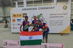 India won three medals at the Asian Para-Cycling Championships.