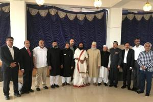 Muslim clerics and intellectuals who flew to Bangalore to meet Art of Living founder Sri Sri Ravi Shankar to find an out-of-court settlement to the Ayodhya dispute