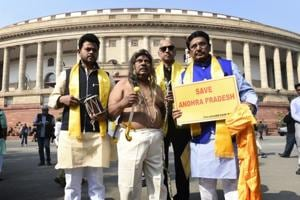 Andhra special package: TDP MP dresses up as Lord Venkateswara outside...