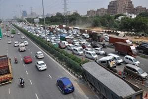 The police have also identified a number of dark spots on the Delhi-Gurgaon Expressway (above) and the National Highway-8 where maximum road accidents with fatalities take place