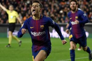 Philippe Coutinho opens account as FC Barcelona beat Valencia to reach...