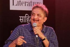 Author Jayant Kaikini at Kala Ghoda on Friday.