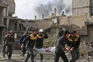 Death toll tops 220 in four-day regime assault on Syria rebel enclave