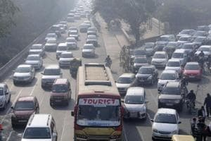 Congestion has become a regular affair on the Delhi-Noida Link Road in Noida.