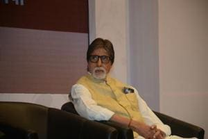 Amitabh Bachchan hides face in his hat as he leaves hospital after...