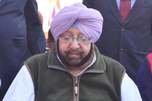 Punjab chief minister Captain Amarinder Singh at the memorial of Sikh warrior General Sardar Sham Singh Attariwala on his 172th martyrdom day during a state-level function on the outskirts of Amritsar on Saturday.