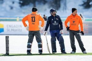 Some of cricket's biggest names of recent years braved the elements on...