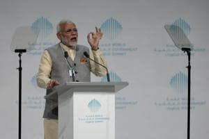 PM Modi in Dubai: Technology must be used as means to development, not...