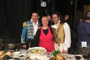 Tasty role: Instead of prop, opera performer gets pasta on stage from...
