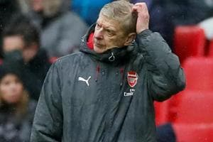 Arsenal's chances of finishing in top four are in peril, fears Arsene...