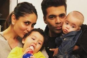 Karan Johar shares picture of budding pianists Taimur Ali Khan and son...