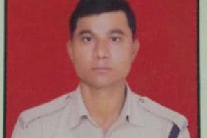 Paramilitary trooper Mojahid Khan of the 49 Battalion who died of a bullet wound.