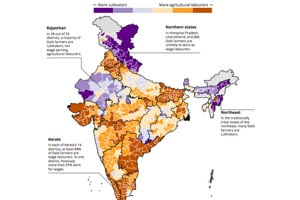 Map: Seven decades after independence, most Dalit farmers still...