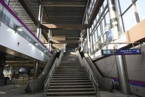 Construction work at the station is almost complete, officials said.