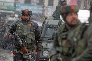 Encounter continues between militants, security forces in Srinagar...