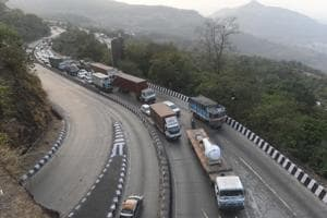 The Mumbai-Pune expressway is India's first controlled-access expressway.