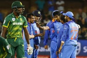 India beat South Africa by 73 runs in the fifth one-day international...