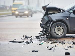The impact of the accident was such that the woman died on the spot, the police said.