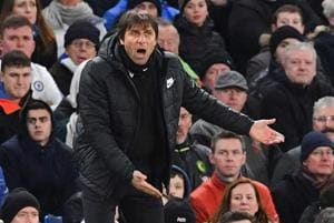 Chelsea boss Antonio Conte given Manchester United shirt signed by...