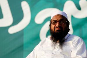Hafiz Muhammad Saeed, chief of the banned Islamic charity Jamat-ud-Dawa, in Islamabad, Pakistan on July 20, 2016.