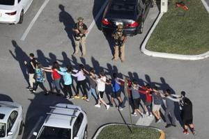 Florida school shooting:Video shows students hiding in class, yelling...