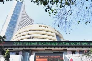 Sensex gains over 100 points, Nifty above 10,500, PNB shares down 7%