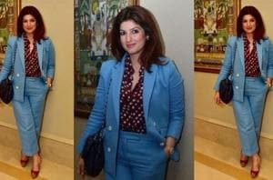 Twinkle Khanna is a pantsuit fashion icon who's making it the trend to...