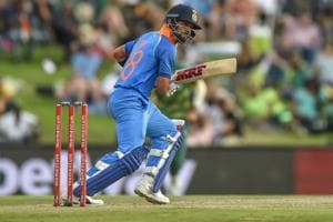 Indian batsman captain Virat Kohli in action during the sixth ODI cricket match between South Africa and India in Centurion, South Africa on Friday.
