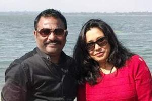 Former soccer player Ajay Singh with his wife Anjella Singh in happier times.
