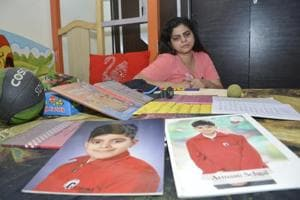 Swati Sehgal, Arman's mother, in the boy's room.