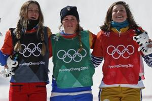 2018 Winter Olympics: Michela Moioli wins snowboardcross; Jacobellis...