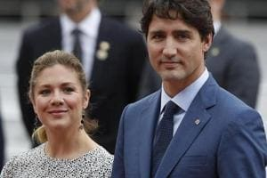 Canadian Prime Minister Justin Trudeau and his wife Sophie Gregoire Trudeau.