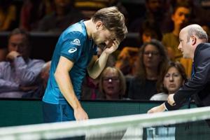 David Goffin forced to retire in Rotterdam following freak eye injury