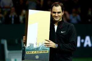 Roger Federer becomes oldest tennis world number one with win in...