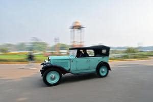 Photos: Vintage cars do the swirl in Delhi over the weekend