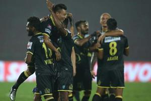 Kerala Blasters FC kept their playoff hopes alive, collecting the...