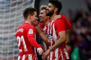 Gameiro, Diego Costa on target as Atletico Madrid keep up FC Barcelona...