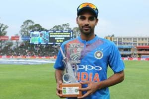 Riding on Shikhar Dhawan's 72 and Bhuvneshwar Kumar's five-wicket haul, India beat SouthAfrica by 28 runs to go 1-0 up in the three-match T20 series. Get highlights of India vs South Africa, 1st T20, Johannesburg here.